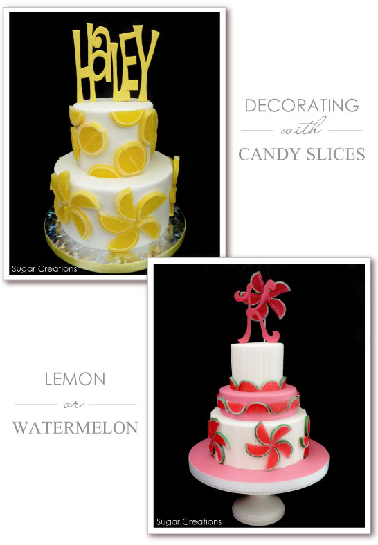 Decorating with Candy Fruit Slices | TheCakeBlog.com