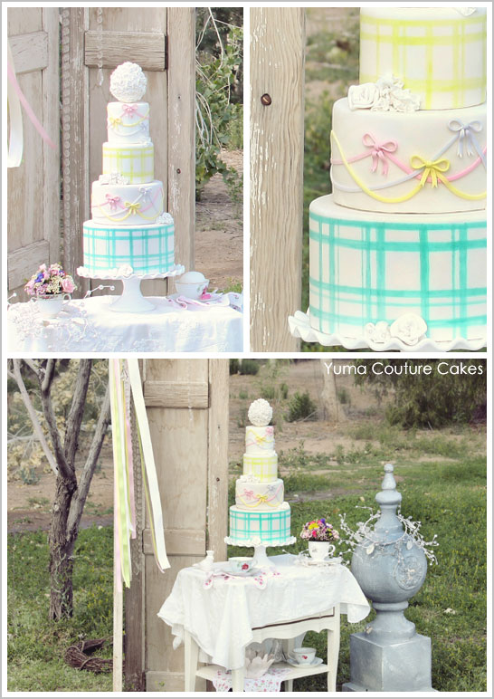 Gingham & Bows by Yuma Couture Cakes  |  TheCakeBlog.com