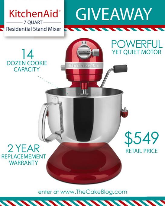 7 qt KitchenAid Mixer Giveaway  |  TheCakeBlog.com