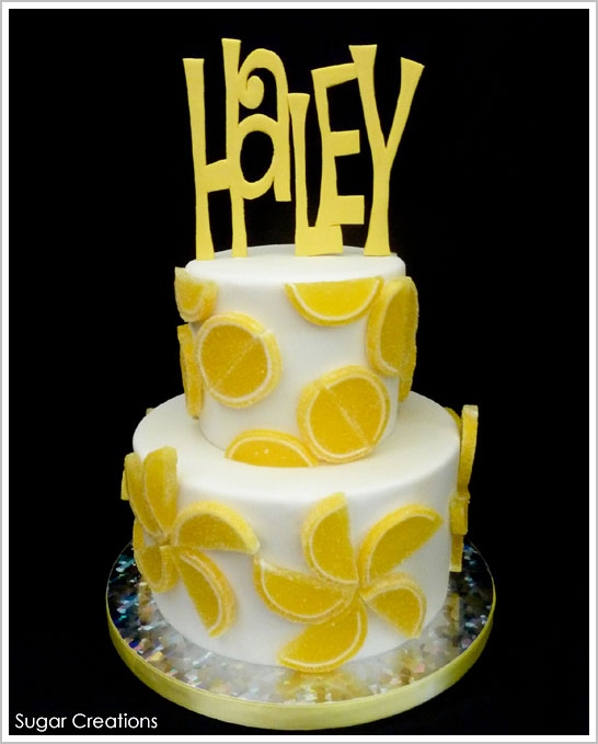 Lemon Candy Slices Cake by Sugar Creations | TheCakeBlog.com
