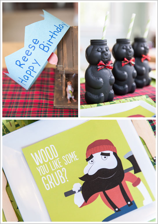 Lumberjack Birthday Party  |  TheCakeBlog.com