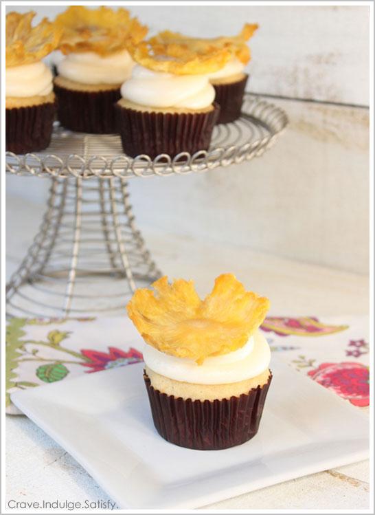Tropical Pineapple Cupcake Recipe by Lauren Kapeluck | TheCakeBlog.com