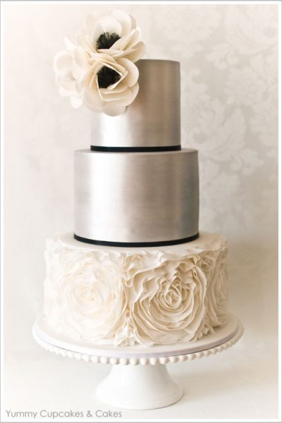 From Dress to Cake  ::  Ruffled Rosette