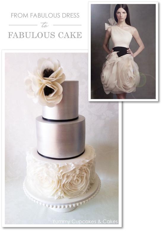Vera Wang Cake by Yummy Cupcakes & Cakes  |  TheCakeBlog.com