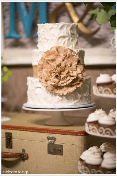 Sugar Burlap Cake