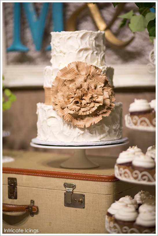 Rustic Burlap Cake by Intricate Icings | TheCakeBlog.com