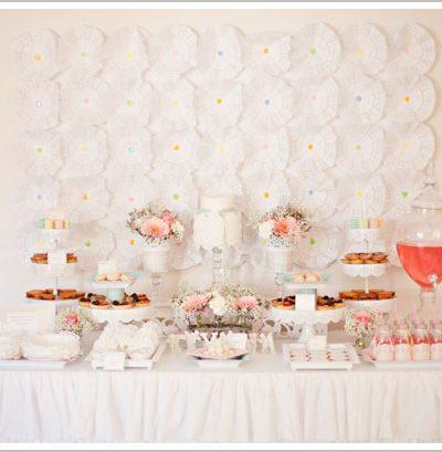Angel Wings Dessert Table