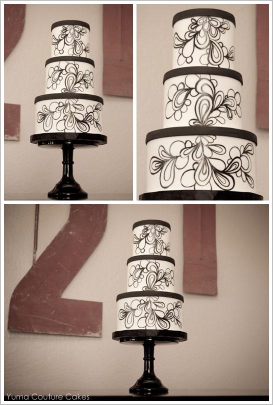 Mod Black & White by Yuma Couture Cakes  |  TheCakeBlog.com