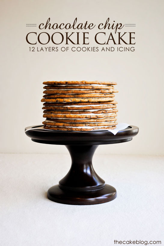 Chocolate Chip Cookie Layer Cake - the ultimate cookie cake for cookie lovers | by Carrie Sellman for TheCakeBlog.com