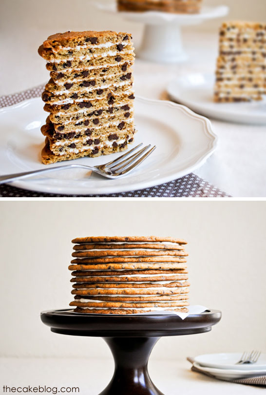 Chocolate Chip Cookie Cake  |  Carrie Sellman for TheCakeBlog.com