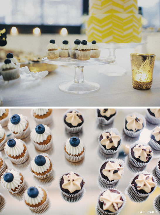 Gold & Chevron Dessert Table by Lael Cakes | TheCakeBlog.com