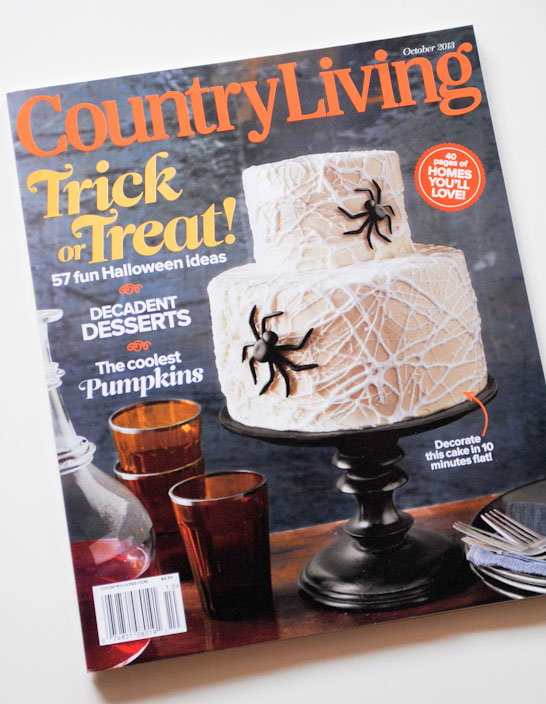 Marshmallow Cobweb Cake | by Carrie Sellman | Country Living Magazine Oct 2013