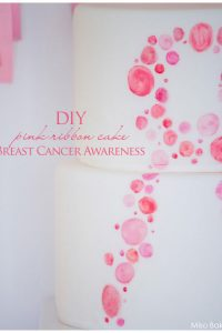 Pink Breast Cancer Awareness Cake by Miso Bakes  |  TheCakeBlog.com