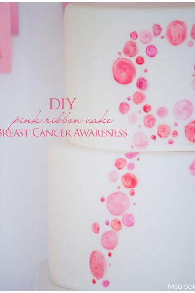DIY : Pink Ribbon Cake