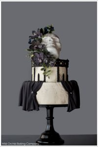 Voodoo Goth Halloween Cake by Wild Orchid  |  TheCakeBlog.com