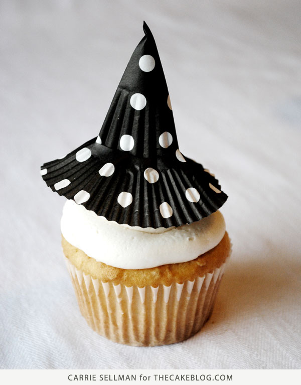 How to make witch hat cupcakes | Tutorial by Carrie Sellman for TheCakeBlog.com