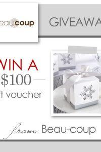 $100 Beau-coup Giveaway  |  TheCakeBlog.com