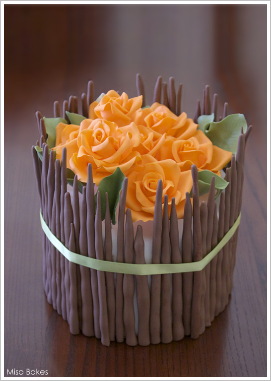Diy fall flowers centerpiece cake