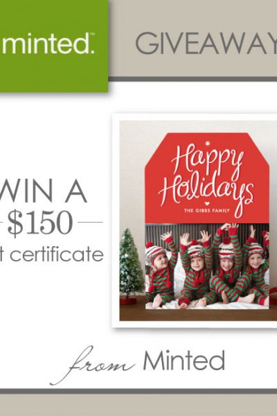 Giveaway : $150 to Minted