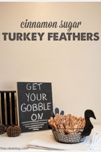 DIY : Cinnamon Sugar Turkey Feathers