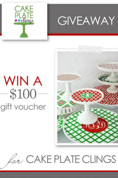 GIVEAWAY : $100 of Cake Plate Clings