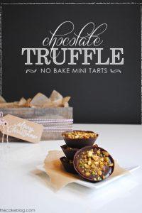 No-Bake Mini Truffle Tarts  |  TheCakeBlog.com