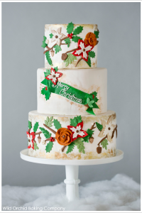 Christmas Garland by Wild Orchid Baking Co  |  TheCakeBlog.com