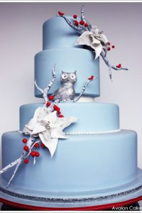 Glittery Winter Owl by Avalon Cakes  |  TheCakeBlog.com