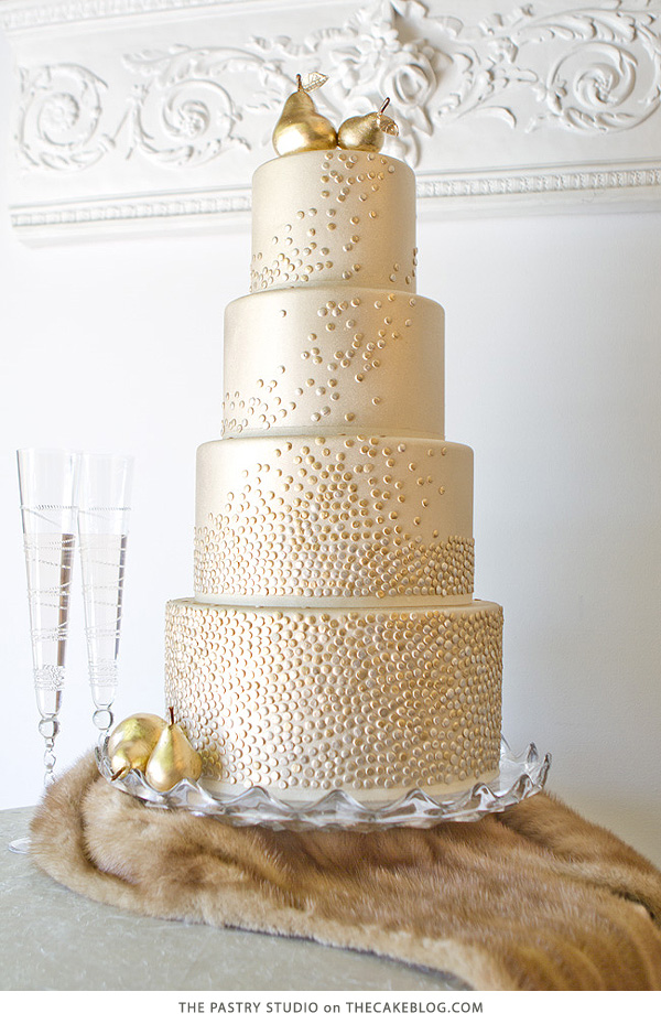 Golden Pear Cake | by The Pastry Studio for TheCakeBlog.com