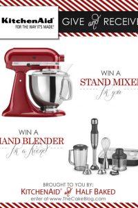 KitchenAid Stand Mixer & Blender Giveaway  |  TheCakeBlog.com