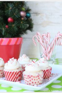Peppermint Cupcakes for Santa  |  TheCakeBlog.com