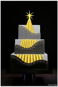 Star of Christmas Cake by Jessica Harris  |  TheCakeBlog.com