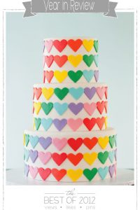 Rainbow Heart Cake by Wild Orchid Baking Co  |  TheCakeBlog.com