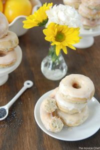 Lemon Poppyseed Mini Donuts  |  TheCakeBlog.com