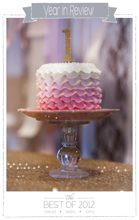Best of 2012 : Pink & Gold 1st Birthday by Intricate Icings