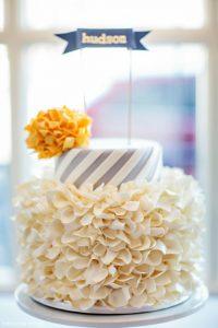 Spirals & Pom Poms Cake by Intricate Icings  |  TheCakeBlog.com