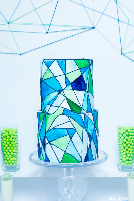 Stained Glass First Communion Dessert Table
