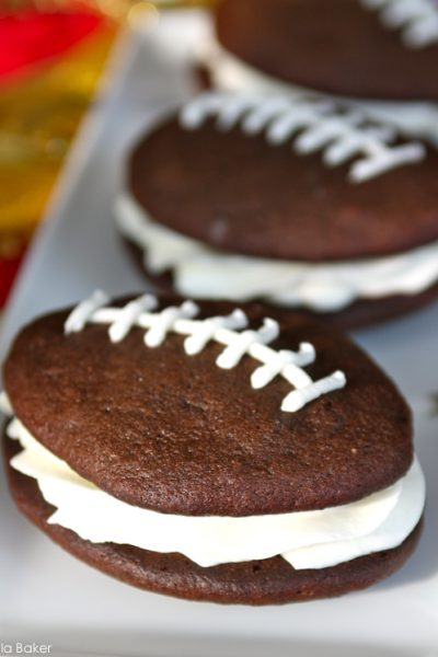 Recipe:  Football Whoopie Pies