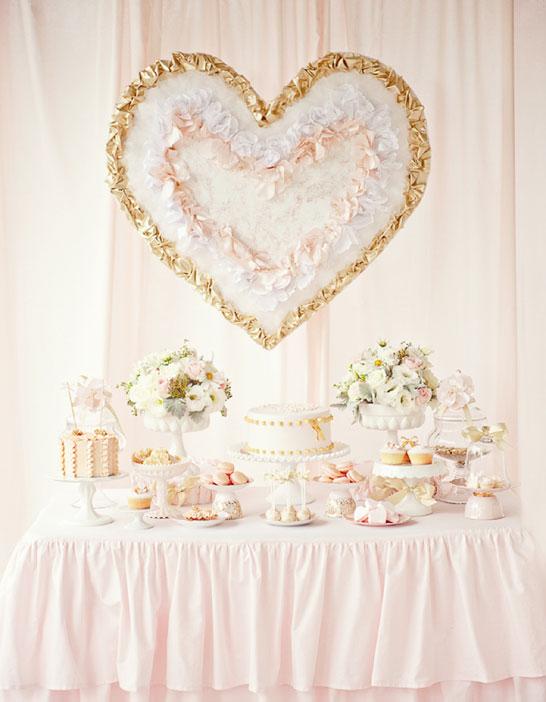 Pink & Gold Valentines Dessert Table  |  TheCakeBlog.com