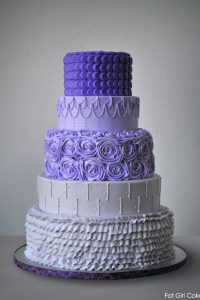Purple Ombre Buttercream Cake