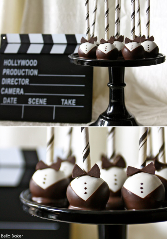Red Carpet Tuxedo Cake Pops by Bella Baker | TheCakeBlog.com
