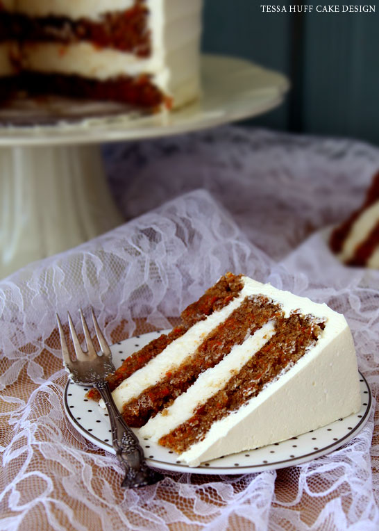 Carrot Cake with Spun Sugar Nest by Tessa Huff | TheCakeBlog.com