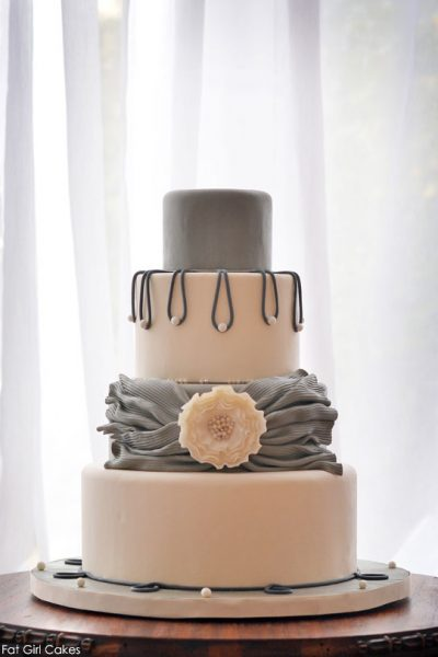 Pearlescent Shades of Gray Cake
