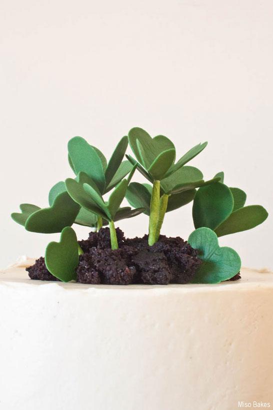 Shamrock Cake Tutorial by Miso Bakes  |  TheCakeBlog.com