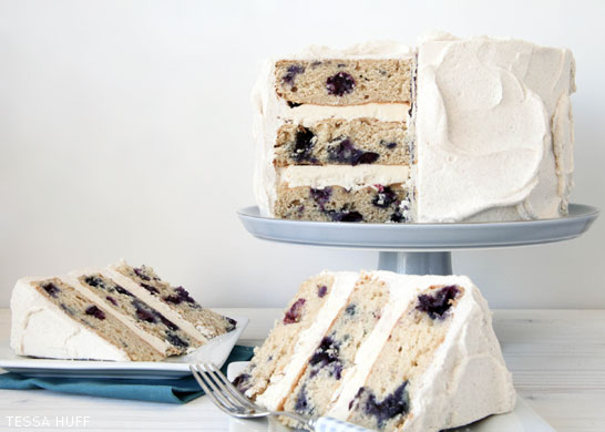 Blueberry Breakfast Cake by Tessa Huff  |  TheCakeBlog.com