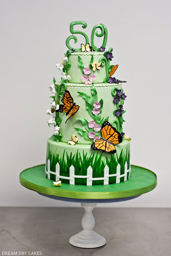 Butterfly Garden Cake The Cake Blog