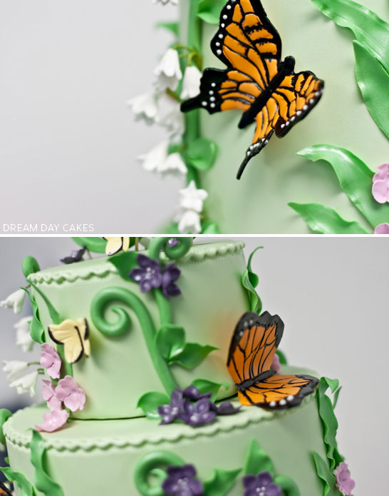 Butterfly Garden by Dream Day Cakes  |  TheCakeBlog.com