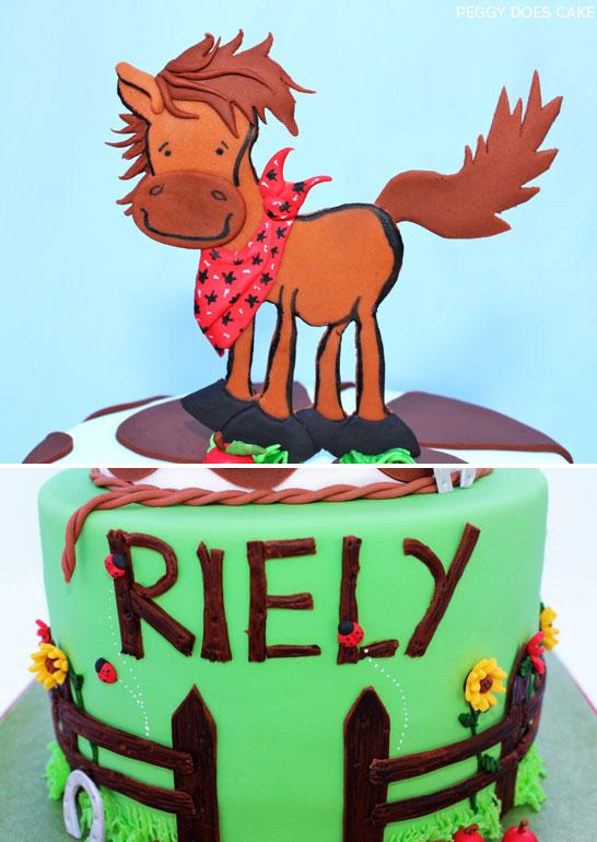 Country Horse Cake by Peggy Does Cake | TheCakeBlog.com
