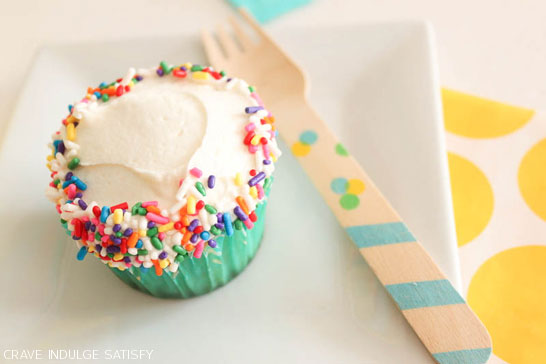 Funfetti Cupcake Recipe by Lauren Kapeluck  |  TheCakeBlog.com