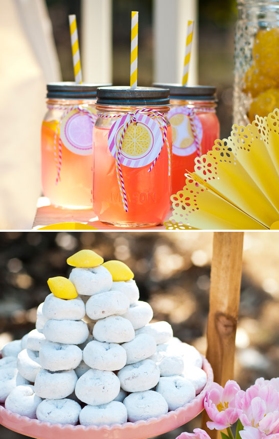 Fresh Lemonade Dessert Table | TheCakeBlog.com